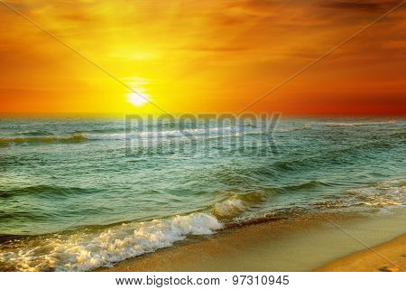 Fantastic Sunrise On The Ocean