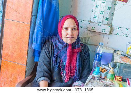 Working Egyptian Woman Portrait.