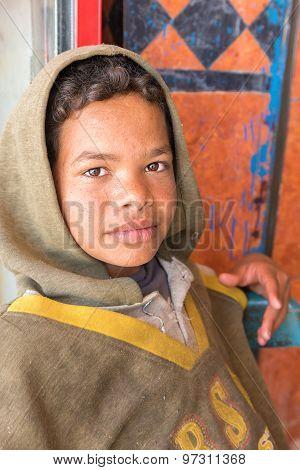 The Portrait Of Egyptian Boy.