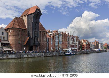 Medieval Crane In Gdansk, Poland