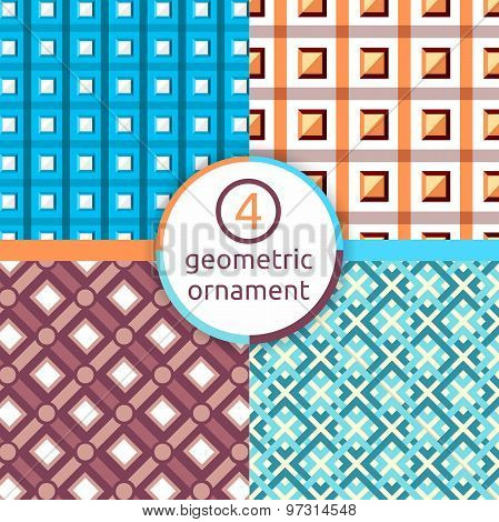 A stylized drawing. Set of geometric patterns. Square. Triangle. A selection of patterns. Vector pat