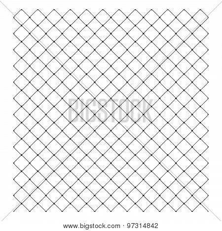 Illustration Vector Of Steel Wire Mesh Seamless Background.