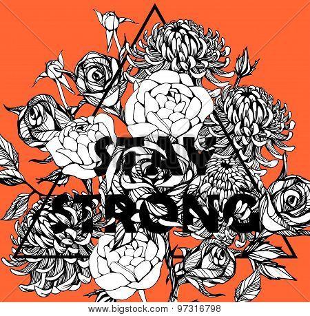 beautiful flower background art