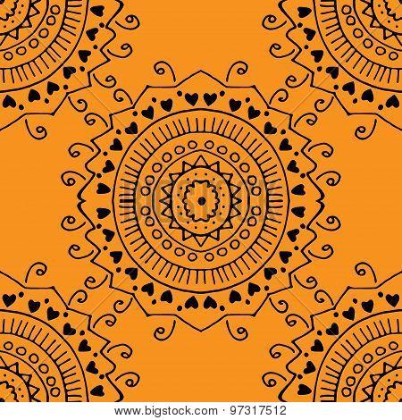 Seamless Orange Pattern.
