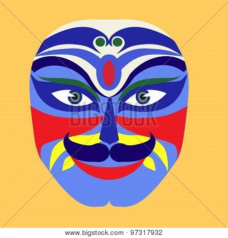 Mask Of Peking Opera Drama