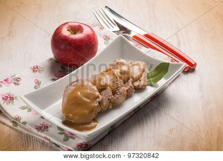 tenderloin with apple cream sauce