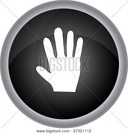 Human Hand  Sign. Vector Icon