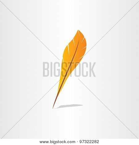 Vector Feather Symbol Abstract Icon