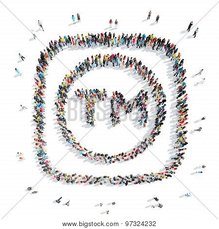 people in the shape of a trade mark