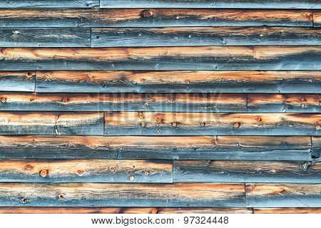 Weathered Barn Wall with Overlapped Wood Siding