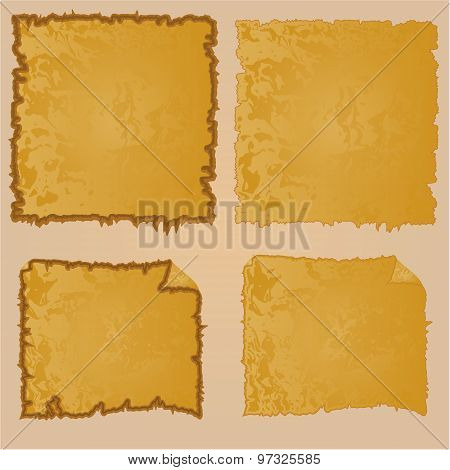 Frames Or Damaged Equipment And Tattered Old Paper Vintage  Vector