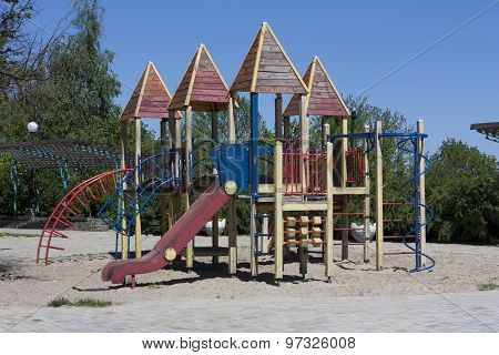 Modern Colorful Playground Without Children Ground Outdoor Photo