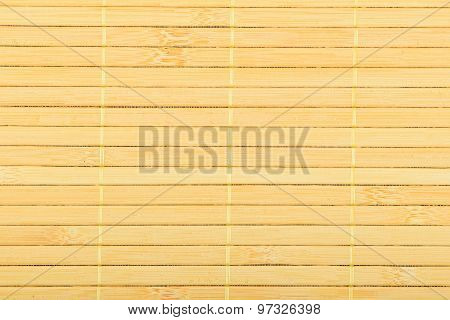 Bamboo Wooden Light Yellow Wicker Braided Mat Background