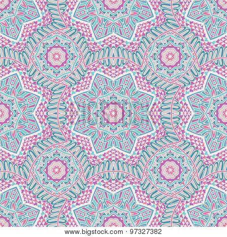 Seamless vector pattern tracery oriental design