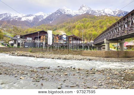 Sochi. The Urban-type Settlement Of Krasnaya Polyana