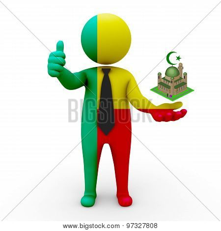 3d businessman people Benin - Muslim mosque and Islam in Benin