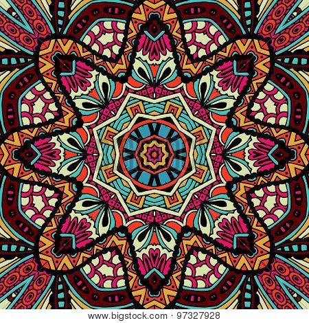 Abstract geometric fashion tribal ethnic seamless pattern ornamental