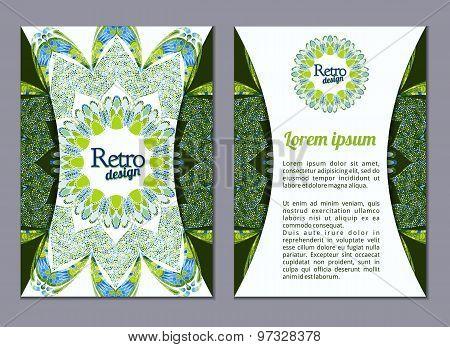 Vector Brochure, Booklet Cover Design Templates Collection A4