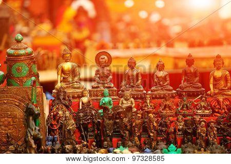 souvenir statuette of a Buddha