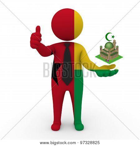 3d businessman people Guinea-Bissau - Muslim mosque and Islam in Guinea-Bissau