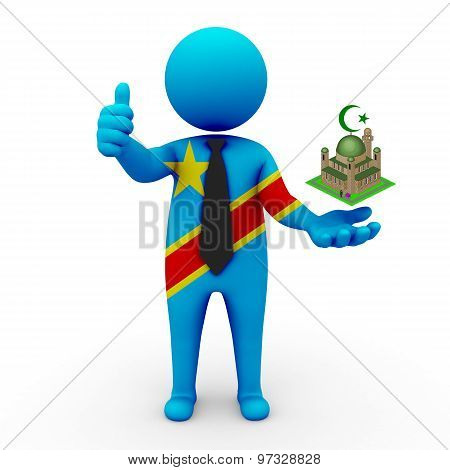 3d businessman people DR Congo - Muslim mosque and Islam in DR Congo