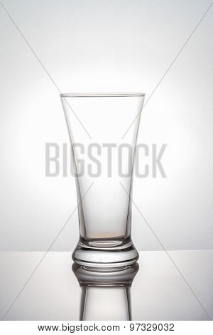 Glass on white background with clipping path