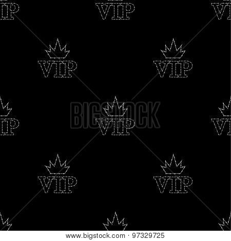 seamless pattern with text VIP from diamonds