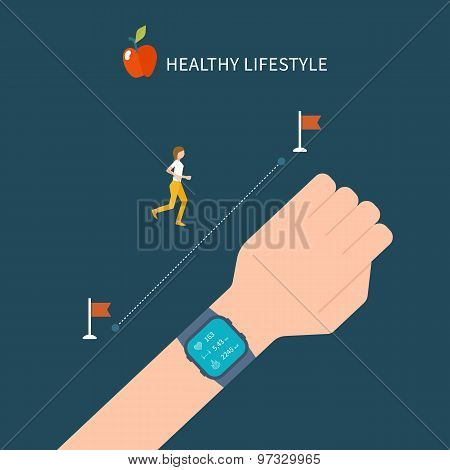 Vector fitness app on tracker on the wrist