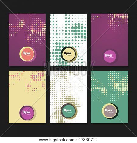 Set of Creative Card, Flyer or Cover Designs with Colorful Abstract Backgrounds