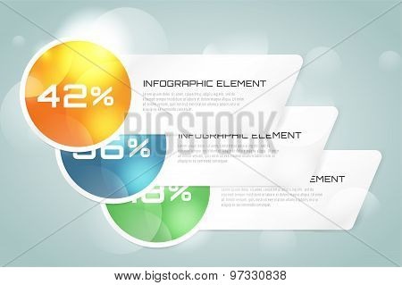 Web banner infographic template. Business presentation and information design, web element, creative