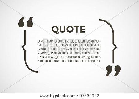 Quote text bubble. Commas, note, message, blank, template, text, marked, tag and comment or info, st