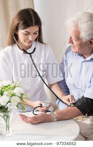 Senior Man With Hypertension