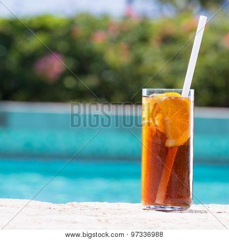 Glass Of Cuba Libre Cocktail