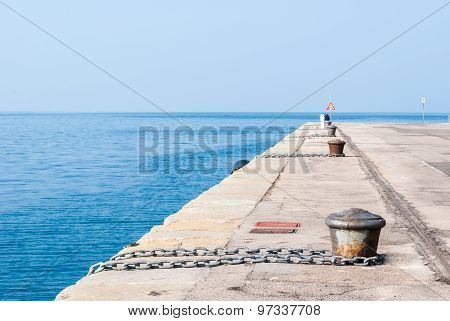 Empty Dock In The Harbor Of Trieste