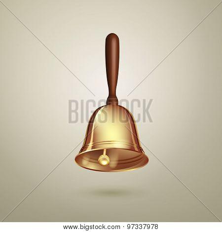 Golden vector hand bell