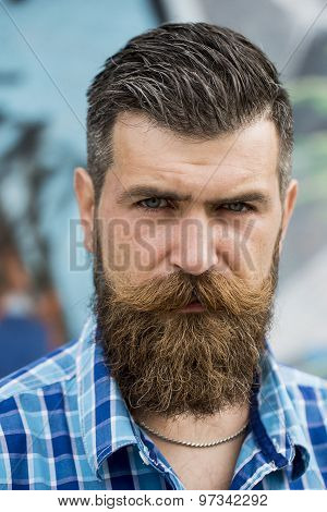 Portrait Of Beautiful Man Outdoor