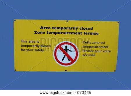 Bilingual Area Closed Sig