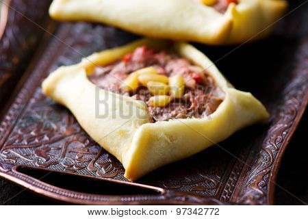 Traditional Lebanese Meat Pies