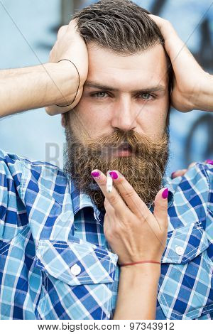 Portrait Of Man With Cigarette