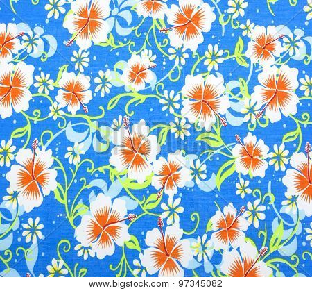 Fabric Flowers Wallpape