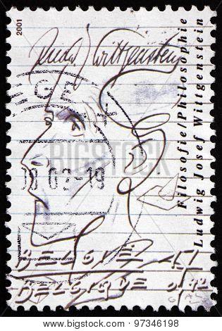 Postage Stamp Belgium 2001 Ludwig Josef Wittgenstein, Philosopher