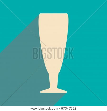 Flat with shadow icon and mobile applacation wine glasses