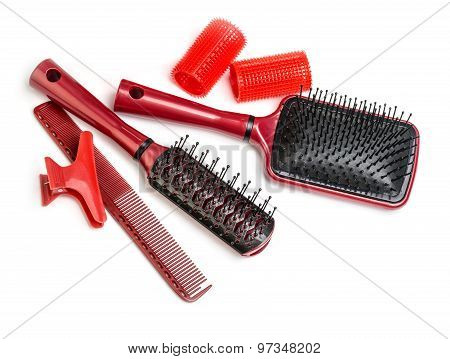 Curlers With Hairbrush