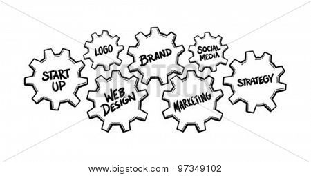Promotional product launch concept vector against white background