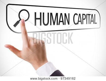 Human Capital written in search bar on virtual screen