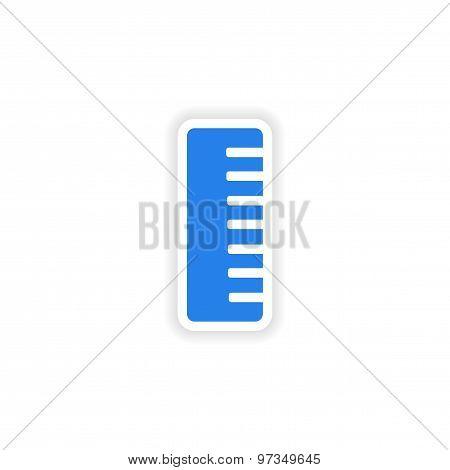 icon sticker realistic design on paper comb