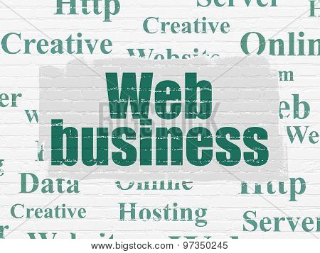 Web design concept: Web Business on wall background