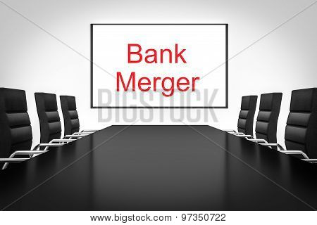Conference Room Whiteboard Bank Merger