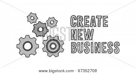 Digitally generated Create new business concept vector