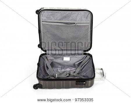 Open Suitcase isolated on white background